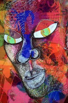 Art Brut Singulier Grand Dessin sur Akilux Numérique Nea Borgel Pop Art Punk