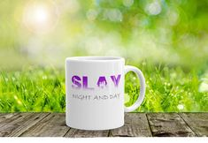 SLAY Night and Day double-sided printed mug by StickerBeeDesigns on Etsy Gifts For Mum, Gifts For Teens, Unique Gifts, Best Gifts, Handmade Shop, Handmade Gifts, Bee Design, Fabric Gifts, Childrens Gifts