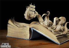 book sculpture.