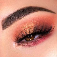 Cute Makeup Looks, Makeup Eye Looks, Makeup For Brown Eyes, Gorgeous Makeup, Cute Eyeshadow Looks, Cute Eye Makeup, Face Makeup, Peach Makeup Look, Hazel Eye Makeup