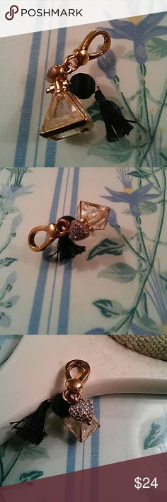 PERFUME ATOMIZER CHARM! USED. HAS SOME WEAR, BUT STILL PRETTY. PRICED LOW. Juicy Couture Jewelry Bracelets