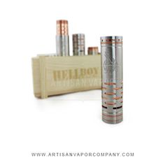 Hellboy #Hybrid #Mechanical #Mod is a legendary copper mod, It makes with Stainless Steel and it uses a #18650battery. It can be purchased at #Artisan #Vapor.