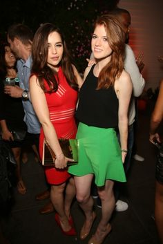Emilia Clarke And Rose Leslie Comic Con 2013