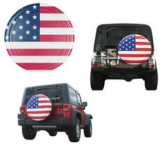 American Flag Hard Tire Cover ($89.99)