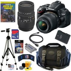 Nikon D5100 16.2MP CMOS Digital SLR Camera with 18-55mm f/3.5-5.6 AF-S DX VR Nikkor Zoom Lens and Sigma 70-300mm f/4-5.6 SLD DG Macro Lens with built in motor + 16GB Deluxe Accessory Kit by Nikon, http://www.amazon.com/dp/B004ZL9ZPG/ref=cm_sw_r_pi_dp_5eMUqb1HBDX3K  *WANT THIS!!!