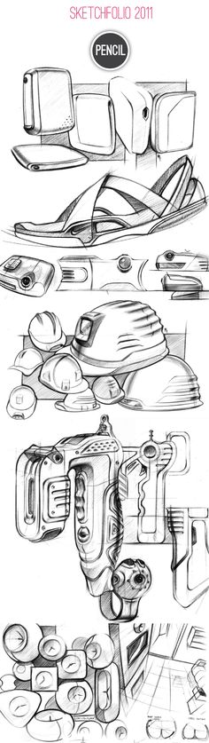 Sketchfolio 2011 by Roshan Hakkim, via Behance