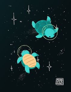 Visual Art & Design / Freelance Illustration / Gameart from Maastricht, The Netherlands. Because the world needs cute art ♥ Cute Animal Drawings, Cute Drawings, Kawaii Drawings, Space Drawings, Posca Art, Cute Turtles, Arte Sketchbook, Cute Wallpapers, Cute Wallpaper Backgrounds