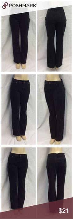 "NINE WEST LADIES BLACK JEANS NINE WEST LADIES BLACK JEANS w/embroidery on back pockets, Size 12, 99% cotton, 1% spandex, machine wash. Approximate measurements are 17"" waist laying flat, 42 1/2"" waist to hem, 31 1/2"" inseam, 12"" waist to crotch, 5"" zipper. 0426 Nine West Pants"