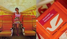 """Architect/Artist Alexander Girard launched an amazing campaign for Braniff Airlines in the mid '60s, called the """"End of the Plain Plane"""", featuring candy-colored jets, airport lounges poppin' with color, and of course those Pucci uniforms for the airbabes."""