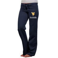 West Virginia Mountaineers Ladies Navy Blue Girly Chic Pants  #FanaticsSummerWishList