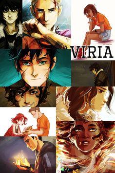 Percy Jackson art by Viria