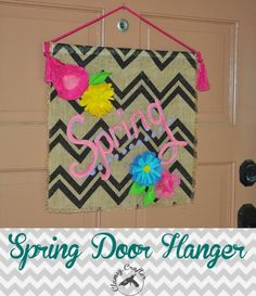 Spring Door Hanger from Clumsy Crafter