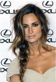 Image result for beautiful simple long hair style part on the side