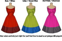 GORGEOUS color... 1950s Vintage Style Dress... your by pinkpurr