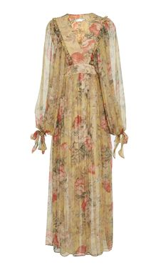 Melody maxi wrap dress by Zimmermann