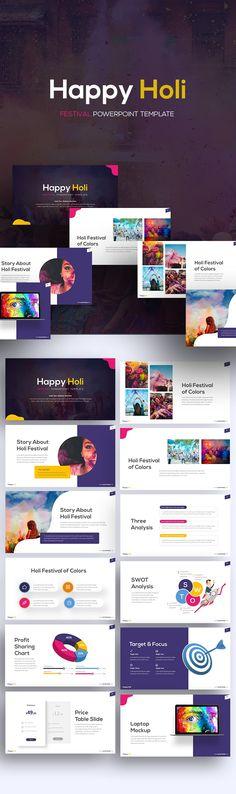 Happy Holi Template - RRGraph Design Design Freebies