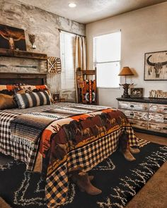 Western Bedroom Decor, Western Rooms, Cowgirl Bedroom, Country Teen Bedroom, Vintage Western Decor, Vintage Ideas, Room Ideas Bedroom, Home Decor Bedroom, Ranch Home Decor