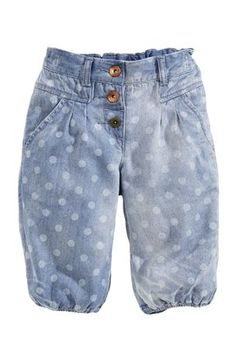 Spotty Chambray Cropped Trousers.Next