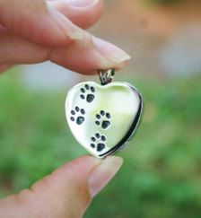 Stainless Steel Paw Print Cremation Pendant Urn by RescueArtWorks Pet Ashes, Urn, Pendant Jewelry, Dog Tags, Natural Stones, Heart Shapes, Gemstone Rings, Quartz, Fashion Jewelry