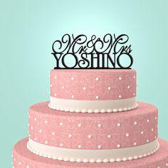 Personalized Custom Mr & Mrs Wedding Cake Topper by URARTDESIGN, $12.00