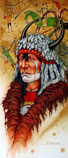 A Warrior of the Piegan Blackfeet ~ by  Kenneth Ferguson