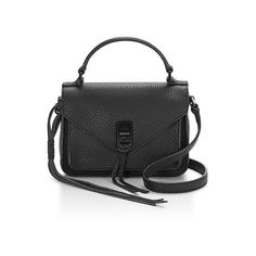 Rebecca Minkoff Mini Darren Messenger ($195) ❤ liked on Polyvore featuring bags, messenger bags, black, crossbody, rebecca minkoff crossbody, mini tote handbag, crossbody messenger bag, rebecca minkoff tote and crossbody tote
