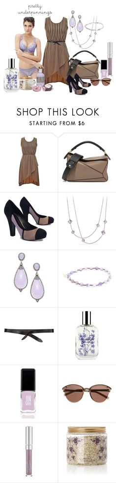 """Lavender Pretty Underpinnings"" by susan-993 ❤ liked on Polyvore featuring Loewe, Bottega Veneta, David Yurman, Arthur Marder Fine Jewelry, Grayson, Isabel Marant, Caswell-Massey, JINsoon, Witchery and Bodhi"