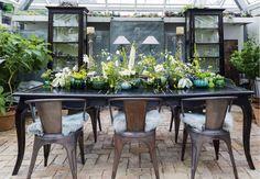 Flower designer Anette von Einem creates beautiful decorations with flowers from Claus Dalbys garden.