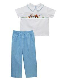Love this Blue Pumpkin Patch Shirt & Pants - Infant, Toddler & Boys on #zulily! #zulilyfinds