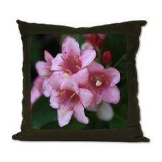 Pink Flower Macro Suede Pillow > Pink Flower Macro > Rosemariesw Design Photo Gifts