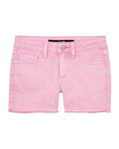 Joe's Jeans Kids' Girl's Markie Stretch Twill Frayed-hem Shorts In Pink Minimal Fashion, Retro Fashion, Vintage Fashion, Fashion 2020, Korean Fashion, Jacket Style, Jeans Style, Spring Fashion, Autumn Fashion