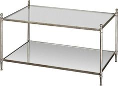 glass silver tiered coffee table
