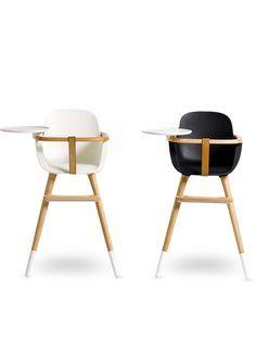 Modern retro high chair looks.