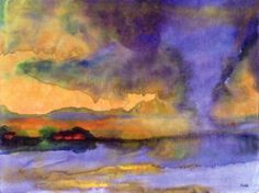 Emil Nolde Innundation (n.d.) watercolour on paper 35 x 47 cm