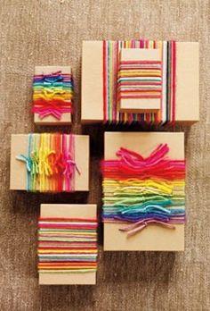 Rainbow Wedding favor boxes
