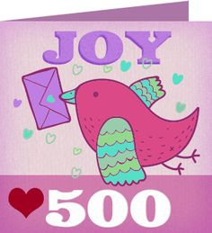 Barbara F. just received a Care2 Thank You Note for sending 500 Care2 E Cards!