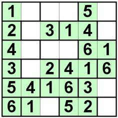 Number Logic Puzzles: 20789 - Bricks size 6