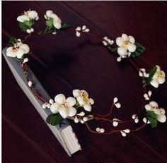 wedding Bride corona de flores pelo
