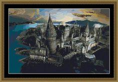 SALE half price cross stitch pattern Hogwarts par xstitchworld