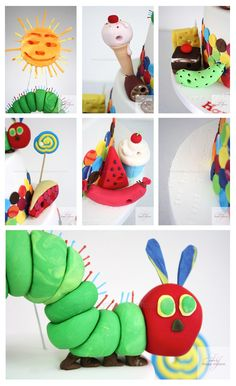 The Very Hungry Caterpillar 1st Birthday Cake Details