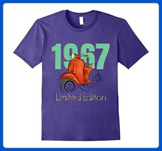 Mens 50th Birthday Retro Color T Shirt Large Purple - Retro shirts (*Amazon Partner-Link)