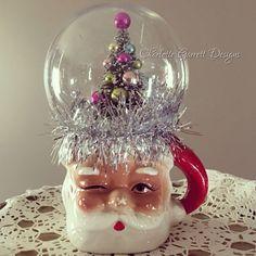 vintage Christmas Crafts Repurposed Santa Mug for - christmascrafts Vintage Christmas Crafts, Christmas Love, Retro Christmas, Christmas Items, Christmas Projects, Winter Christmas, Handmade Christmas, Holiday Crafts, Christmas Mantles