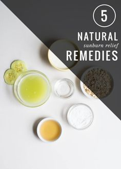 5 Natural Sunburn Relief Remedies | http://hellonatural.co/natural-sunburn-relief/