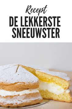 Sneeuwster, een eenvoudige taart met advocaat en slagroom Cheesecakes, Modern Food, Yogurt Cake, Dutch Recipes, Creme, French Toast, Deserts, Goodies, Food And Drink