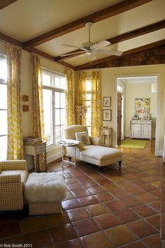 Saltillo with an eclectic comfy cottage/modern glam mix - yellow, cream, brown, gray