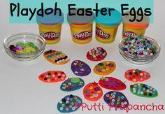 Playdoh easter eggs!
