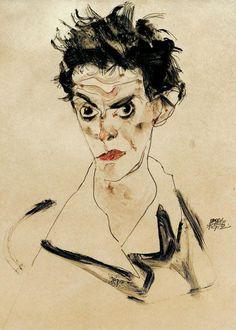 Egon Schiele - Self-portrait 1912