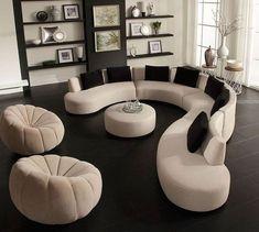 Awesome Modern Sofa Design – Home Design Gebogenes Sofa, Diy Sofa, Sofa Set, Table Furniture, Living Room Furniture, Sectional Sofas, Furniture Ideas, Garden Furniture, Furniture Dolly