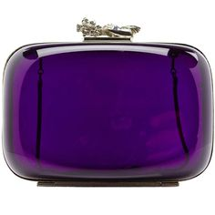 Vintage Judith Lieber Acrylic Bag from Saved to It's In The Bag. Purple Love, All Things Purple, Purple Rain, Shades Of Purple, Deep Purple, Purple Style, Vintage Purses, Vintage Bags, Vintage Handbags