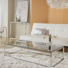 Eurostyle Sandor Coffee Table - one of #fccalgary favorite pieces! So clean and simple, perfect for any room #FurnitureConnectionCalgary